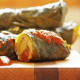 Collard Green Tamales with Roasted Veggies