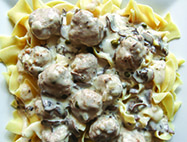 German Meatballs & Horseradish Cream Sauce