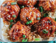 Sriracha Glazed Turkey Meatballs