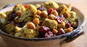 Roasted Curried Cauliflower & Chickpeas